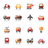 Transportation Colorful Icons Royalty Free Stock Photos