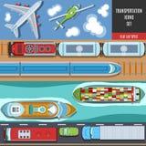 Transportation Colorful Icons Set Stock Photo