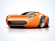 Transportation concept with sports car. Royalty Free Stock Photography