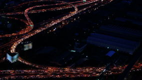 Transportation concept and traffic highway Bangkok. Day to night, Timelapse stock video footage