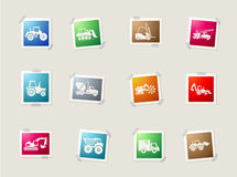 Transportation and Construction Machines icons Stock Images