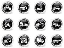 Transportation and Construction Machines icons Stock Photography