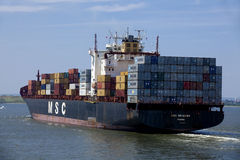 Transportation: Container Cargo Ship - New York City Royalty Free Stock Photo