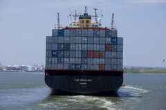 Transportation: Container Cargo Ship - New York City Stock Photo