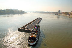 Transportation at the Danube Royalty Free Stock Images