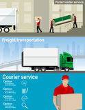 Transportation and delivery company illustration. Stock Photos