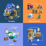 Transportation And Delivery Icons Set Stock Images