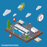 Transportation, delivery, logistics vector illustration Royalty Free Stock Image