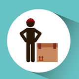 Transportation delivery package Royalty Free Stock Photo