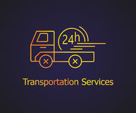 Transportation delivery service. Stock Photography