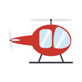 transportation design. helicopter icon. Flat and isolated illust Royalty Free Stock Photography