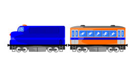 Transportation diesel train vector illustration