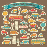 Transportation Doodle Background Royalty Free Stock Photos