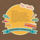 Transportation Doodle Background Royalty Free Stock Photography