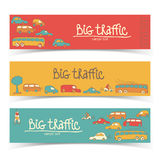 Transportation Doodle banners Royalty Free Stock Images
