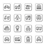 Transportation Doodle Icons Royalty Free Stock Photography