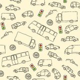Transportation doodle Stock Image