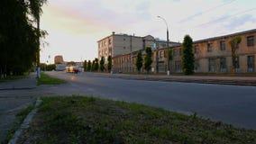 Transportation driving on city street in Kharkiv. Cityscape, Transportation driving on city street in Kharkiv stock footage