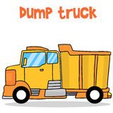 Transportation of dump truck collection. Vector illustration Stock Photo