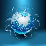 Transportation Earth - Eurasia. Royalty Free Stock Photo
