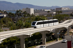 Transportation: Electric Monorail Train Royalty Free Stock Photography