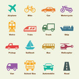 Transportation elements Royalty Free Stock Images
