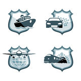 Transportation emblems stock illustration
