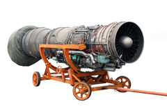 Transportation of the engine. Of the jet plane Stock Photo