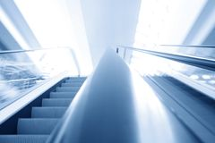 Transportation escalator Royalty Free Stock Photo