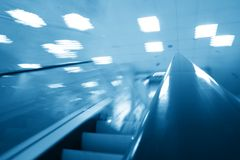 Transportation escalator Stock Photo