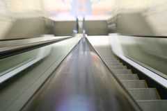 Transportation escalator Stock Image