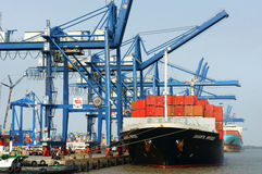 Transportation, export, import, Ho Chi Minh port Royalty Free Stock Photo