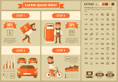 Transportation flat design Infographic Template Royalty Free Stock Photography