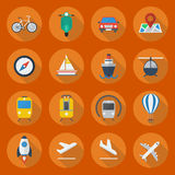 Transportation Flat Icon Set Stock Image