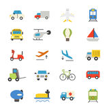 Transportation Flat Icons color Royalty Free Stock Photography