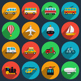 Transportation flat icons set stock illustration