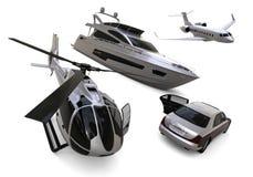 Transportation fleet. 3D render image representing a transportation fleet Stock Photos