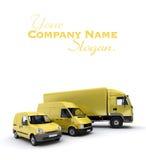 Transportation fleet in yellow Stock Photo