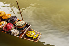 Transportation of floating market in Bangkok, Thailand Stock Image