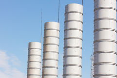 Transportation of gas. Equipment for processing and transportation of gas Stock Image