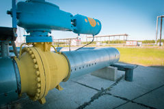 Transportation of gas. Equipment for processing and transportation of gas Stock Photography