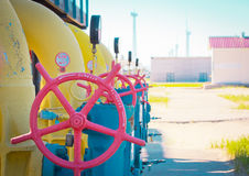 Transportation of gas. Equipment for processing and transportation of gas Stock Photos