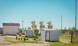 Transportation of gas. Equipment for processing and transportation of gas Stock Photo