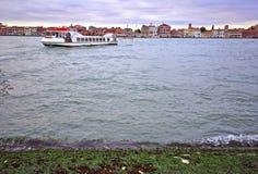 Transportation on Grand Canal. Venice Stock Photography