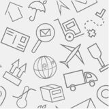 Transportation Hand Drawn Sketchy Outline Icon Pattern royalty free stock images