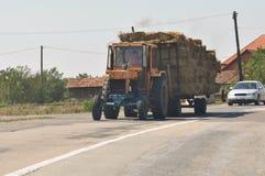 Transportation of hay Stock Image
