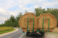 Transportation of haystacks Stock Photos