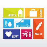 Transportation of health care Royalty Free Stock Photos