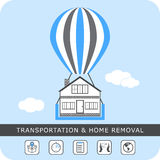 Transportation and home removal - stock . Stock Image