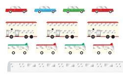 Transportation in hong kong vector illustration